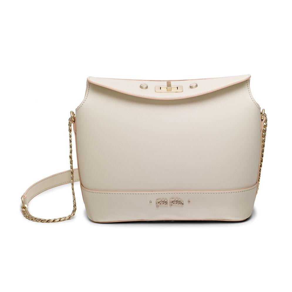 Uptown Beauty Bucket Shoulder Bag, Beige, hires