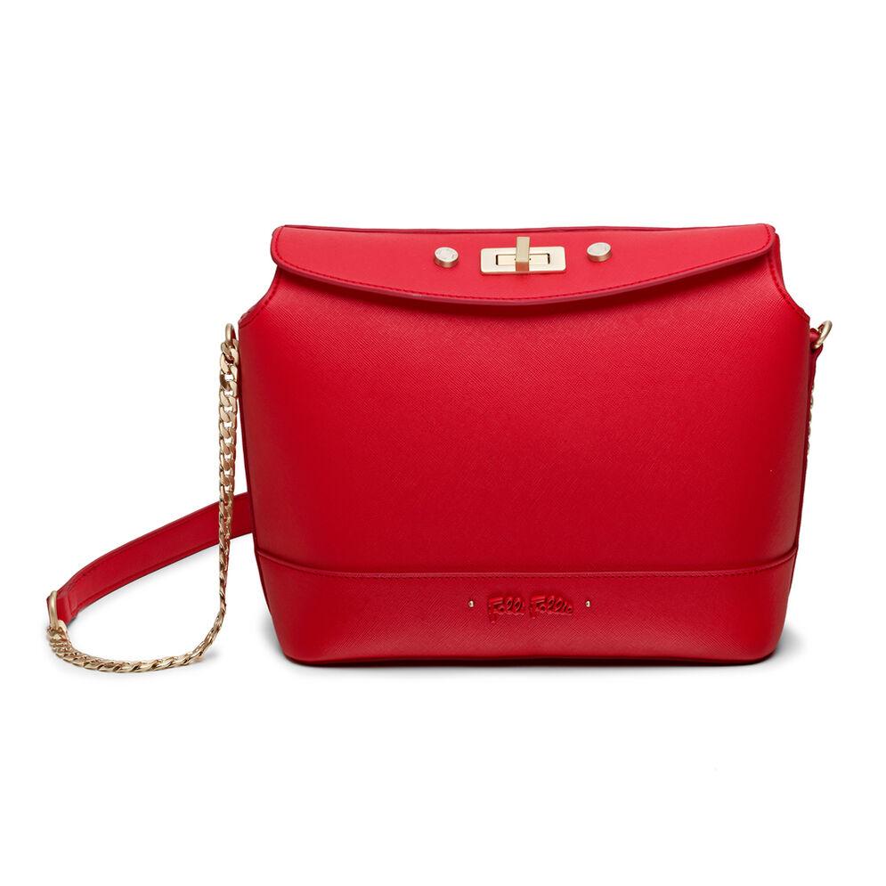 Uptown Beauty Bucket Shoulder Bag, Red, hires