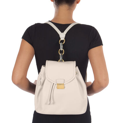 Vintage Chic Backpack, White, hires