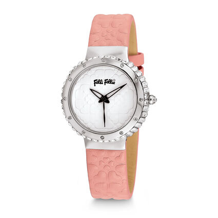 Heart 4 Heart Leather Watch, Pink, hires