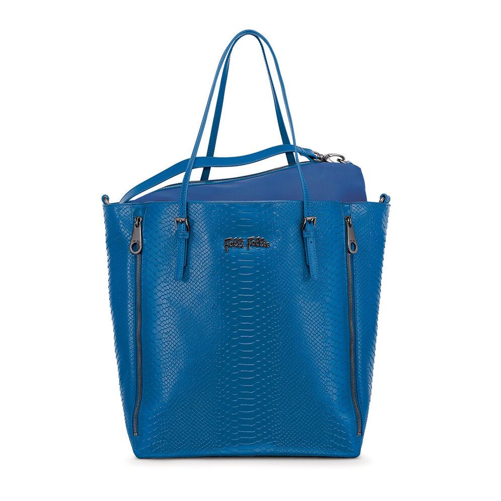 Grace Δερμάτινη Τσάντα Χειρός με extra pouch, Blue, hires