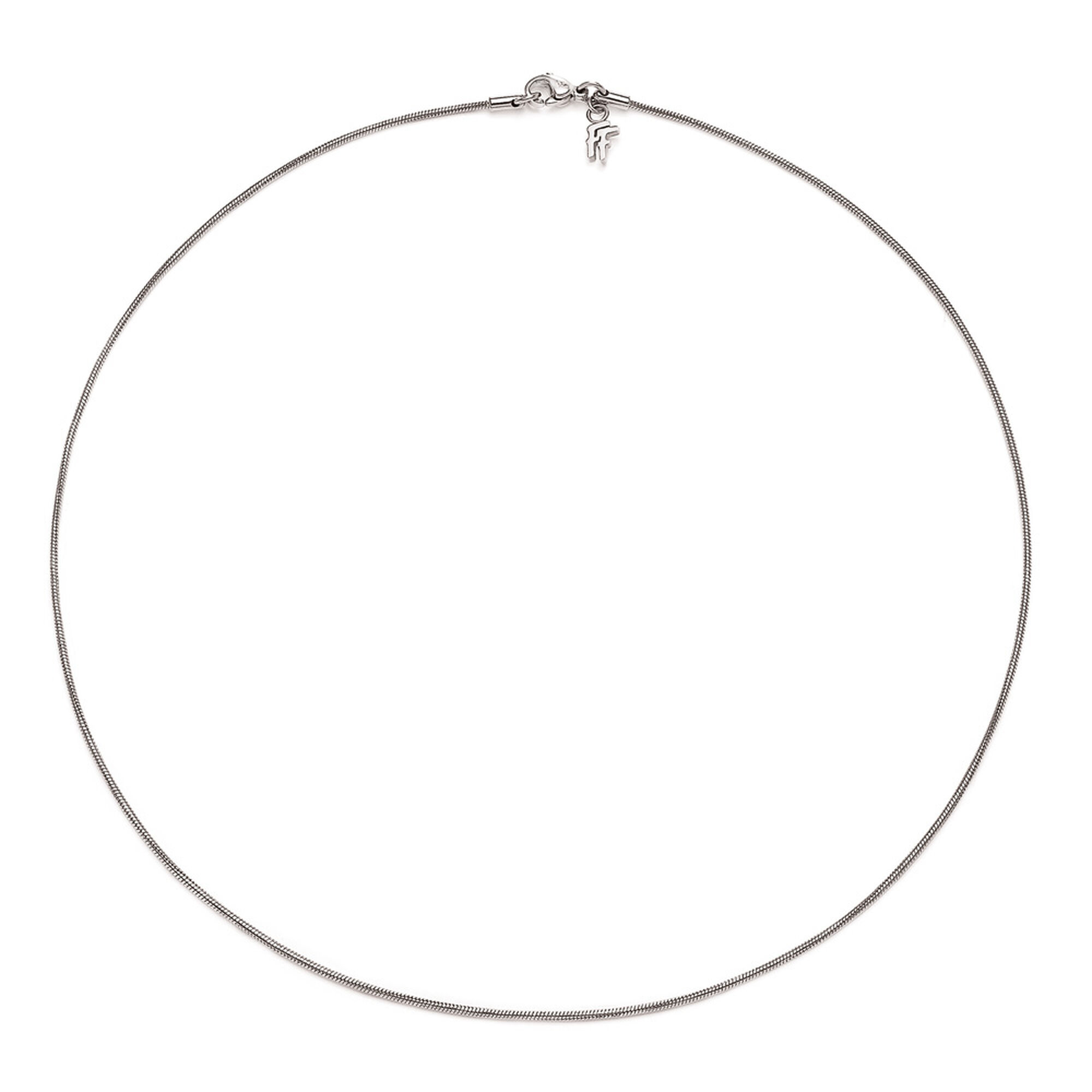 silver bonas jewellery sia necklace oliver plain texture circle