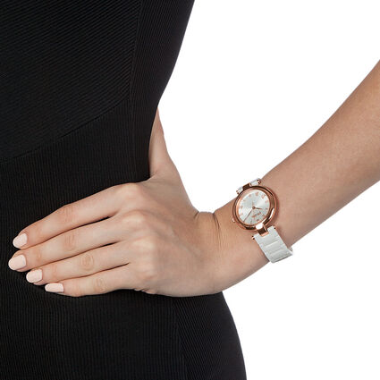 Classy Twist Ceramic Watch, Bracelet White, hires