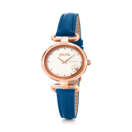 Miss Heart4Heart Extra Small Case Leather Watch , Dark Blue, hires