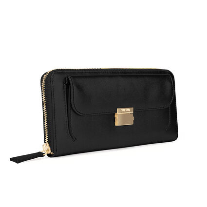 FASHION BRAID WALLET, Black, hires