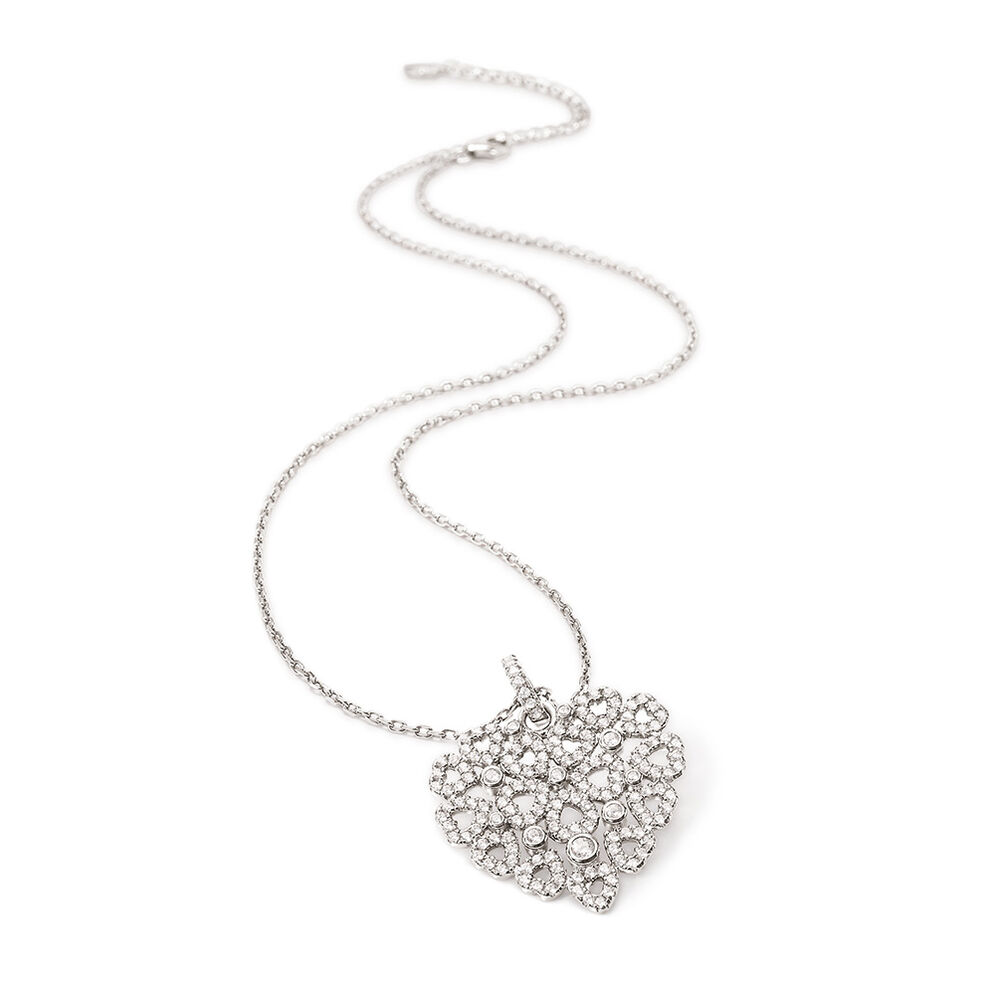 Fashionably Silver Stories Rhodium Plated Long Necklace, , hires
