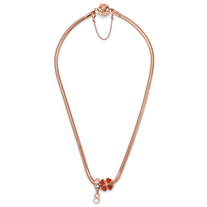 Playful Emotions Rose Gold Plated Desire Set Necklace , , hires