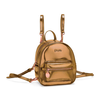 Metallic Love Mini Backpack, Gold, hires