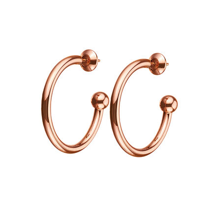 Playful Emotions Rose Gold Plated Small Hoop Earrings, , hires