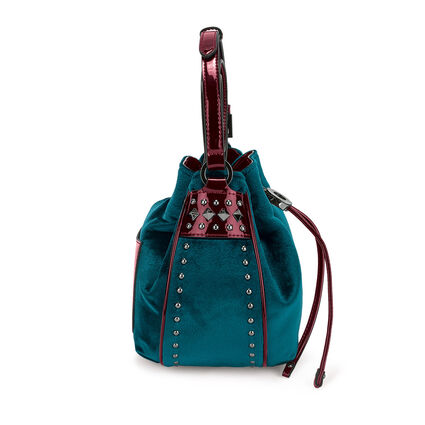 Rock Safari Small Bucket Shoulder Bag, Blue, hires