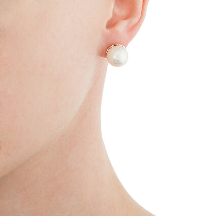 Pearl Muse Silver Plated Stud Earrings, , hires