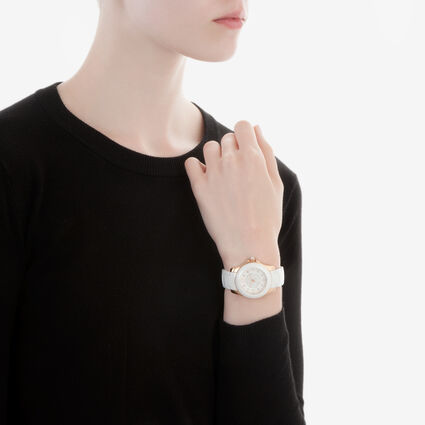 Crystal Time Watch, Bracelet White, hires