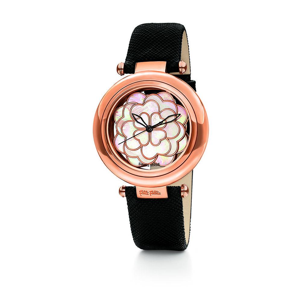 Santorini Flower Watch, Black, hires