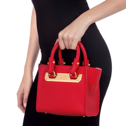 Style Code Small Leather Handbag, Red, hires