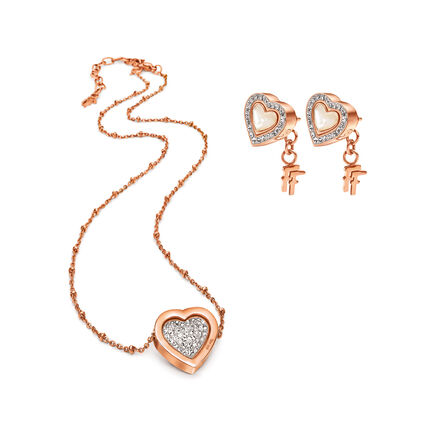 Playful Hearts Rose Gold Plated Σετ, , hires