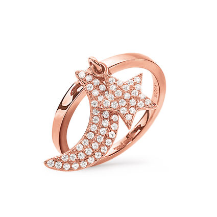 Charm Mates Rose Gold Plated Ring, , hires