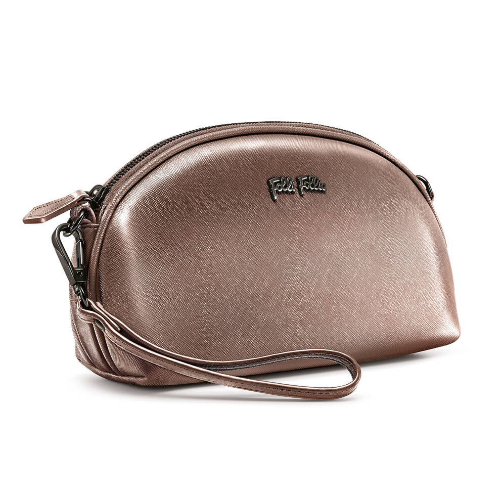 Folli Follie Detachable Crossbody Strap Necessaire Bag, Gray, hires