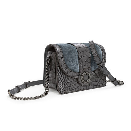Lady Club Mini Leather Cross Body Bag , Gray, hires
