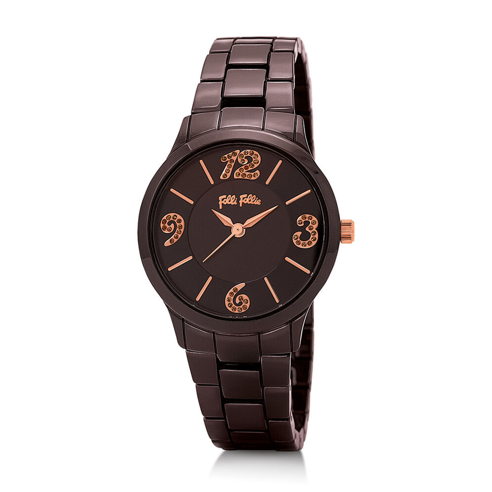 Time To Play Medium Case Ceramic Watch, Bracelet Brown, hires