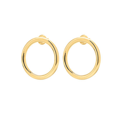 Metal Chic Silver and Yellow Gold Plated Double Earrings , , hires