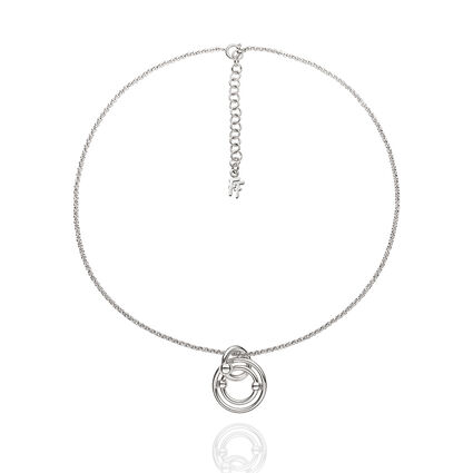 Bonds Silver Plated Small Motif Short Necklace, , hires