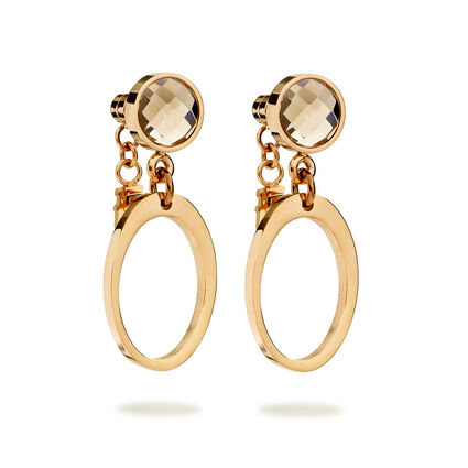 Classy Element Rose Gold Plated Μακριά Σκουλαρίκια, , hires