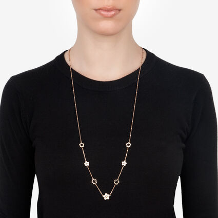 Gift Wonders Rose Gold Plated Long Necklace, , hires