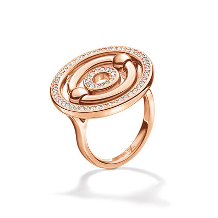 Bonds Rose Gold Plated Small Stone Ring, , hires