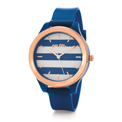 Club Riviera Medium Case Plastic Watch , Blue, hires