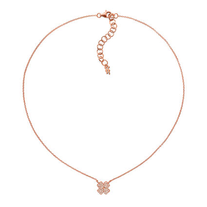 Fashionably Silver Heart4Heart Rose Gold Plated  Κοντό Κολιέ, , hires