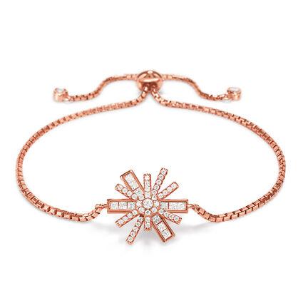 Star Flower 18kt Rose Gold Vermeil Adjustable Bracelet, , hires