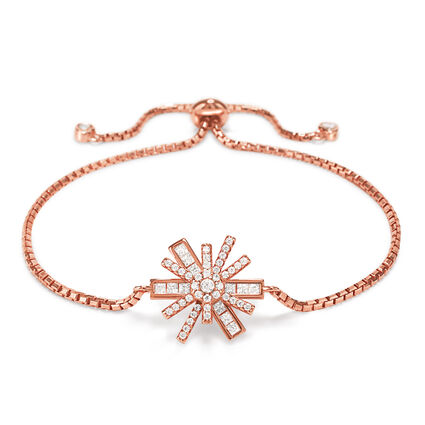 Star Flower Rose Gold Plated Adjustable Bracelet, , hires
