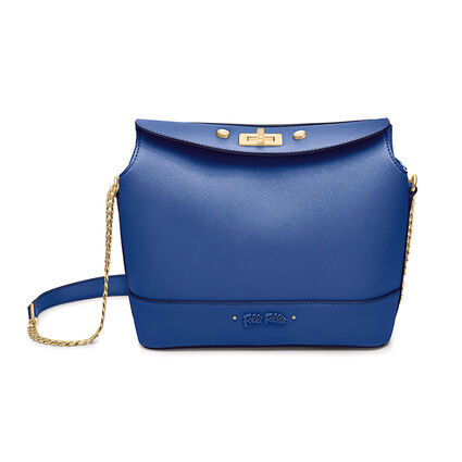 Uptown Beauty Mini Bucket Shoulder Bag, Blue, hires