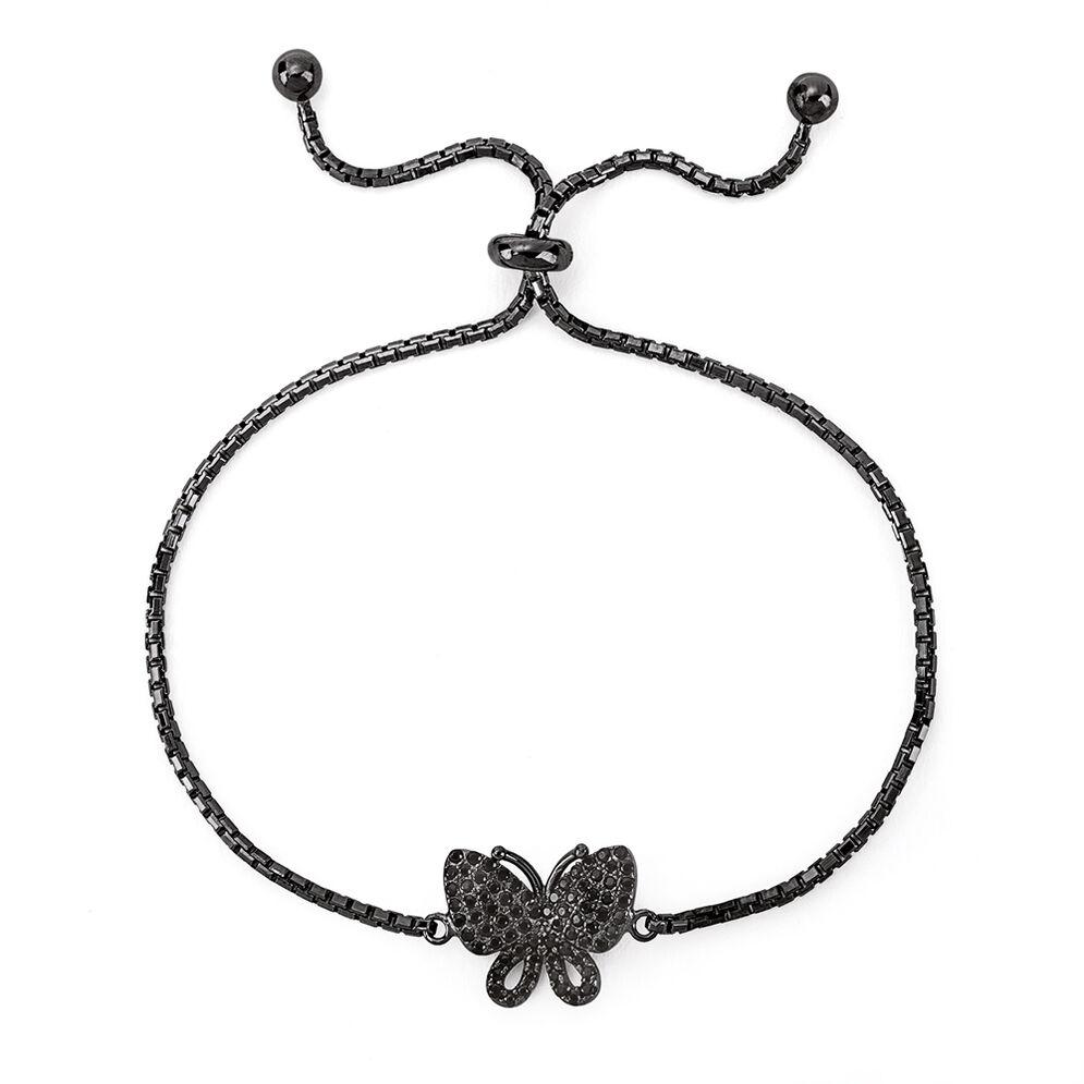 Wonderfly Black Rhodium Plated Adjustable Bracelet, , hires