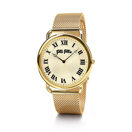 Perfect Match Big Case Bracelet Watch, Bracelet Yellow Gold, hires