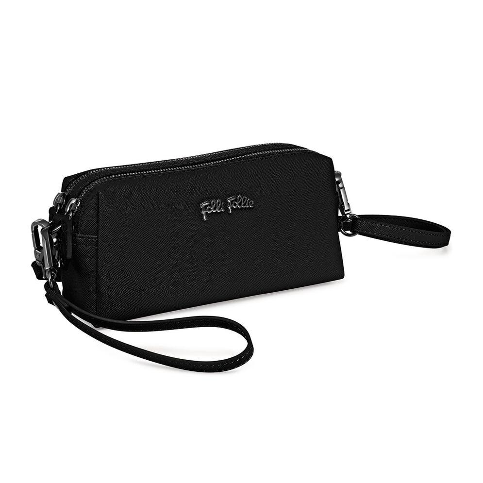 Folli Follie Detachable Crossbody Strap Necessaire Bag, Black, hires