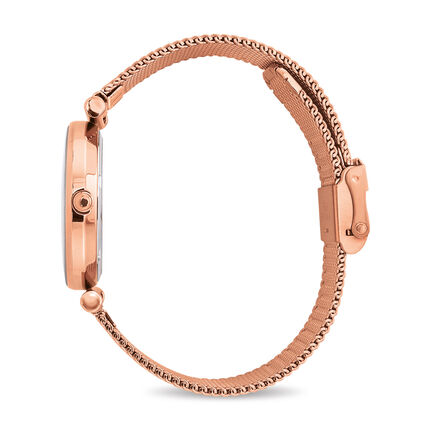 Star Flower Small Case Bracelet Watch, Bracelet Rose Gold, hires