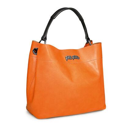 NOMAD LEATHER 肩袋, Orange, hires