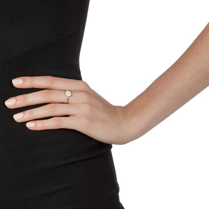 Discus Rose Gold Plated Small Ring, , hires