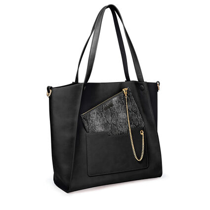 On The Go Τσάντα Ώμου με extra pouch, Black, hires
