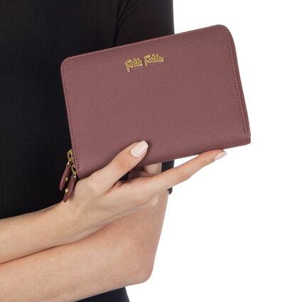 Folli Follie Zip Around Wallet, Dark Pink, hires
