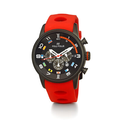Regatta Big Case Rubber Watch, Red, hires