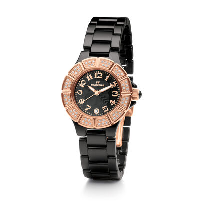 Dorian Ceramic Watch, Black, hires