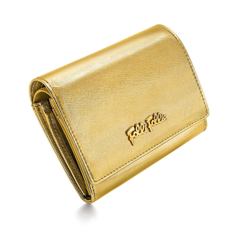 Folli Follie Foldable Πορτοφόλι, Gold, hires