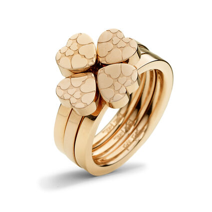Heart4Heart Sweetheart Rose Gold Plated Set Ring, , hires
