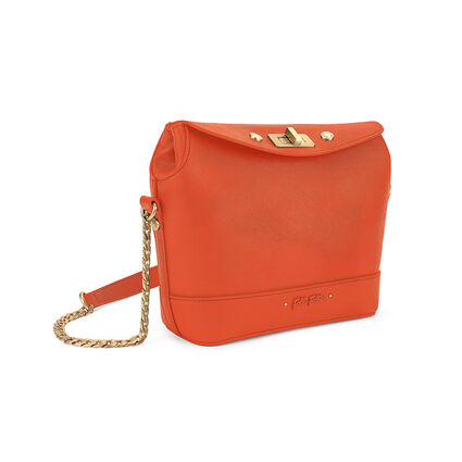 Uptown Beauty Mini Bucket Shoulder Bag, Orange, hires