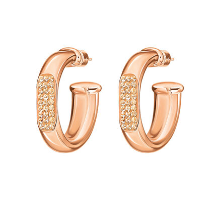 Awe Rose Gold Plated Small Hoop Earrings, , hires