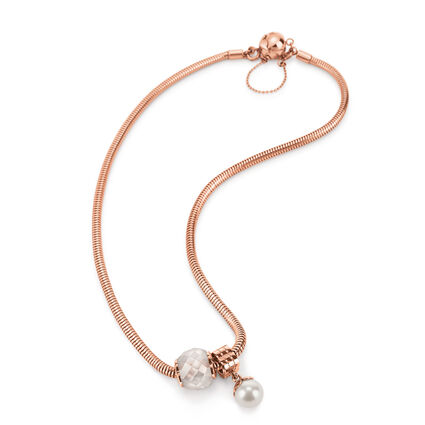 Playful Emotions Rose Gold Plated Hope Set Necklace , , hires