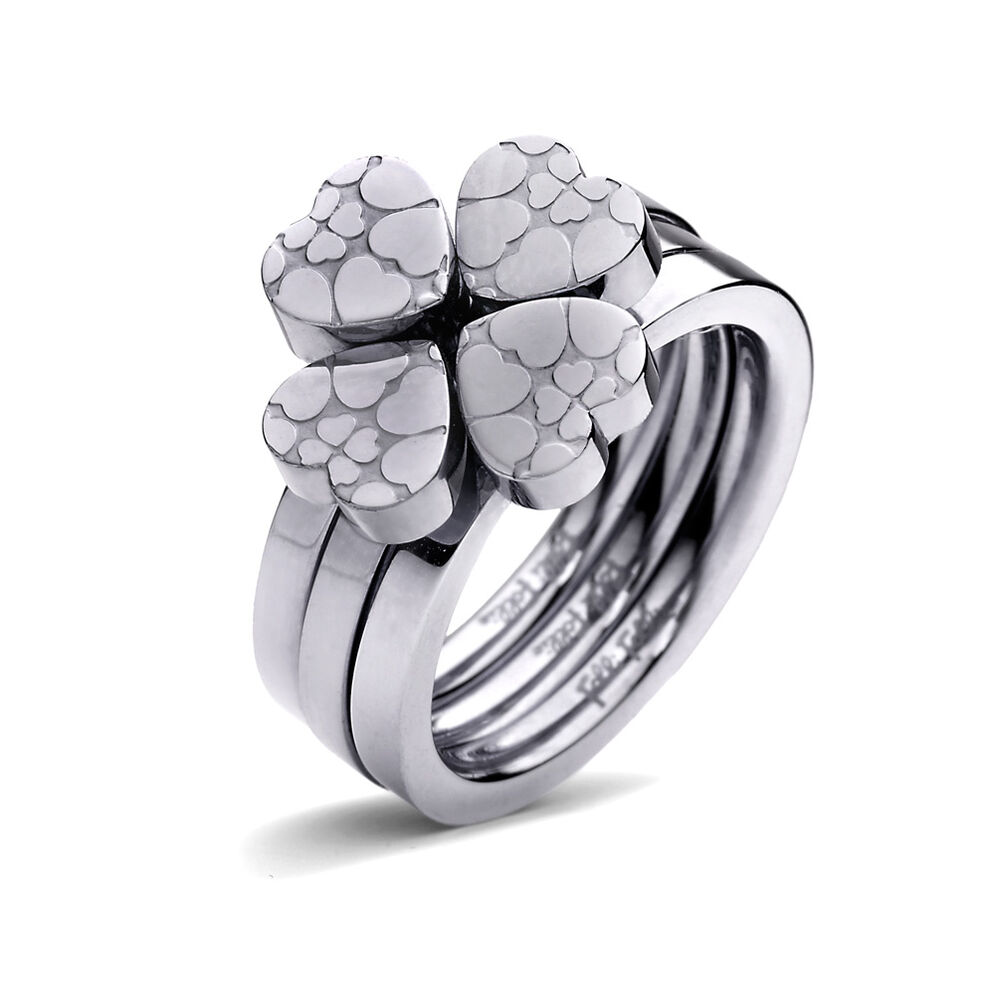 Heart4Heart Sweetheart Silver Plated Set Ring, , hires