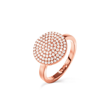 Discus Rose Gold Plated Large Ring, , hires